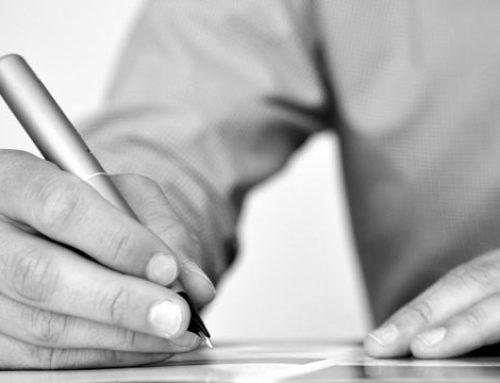 Bra mall för att skriva en fullmakt?